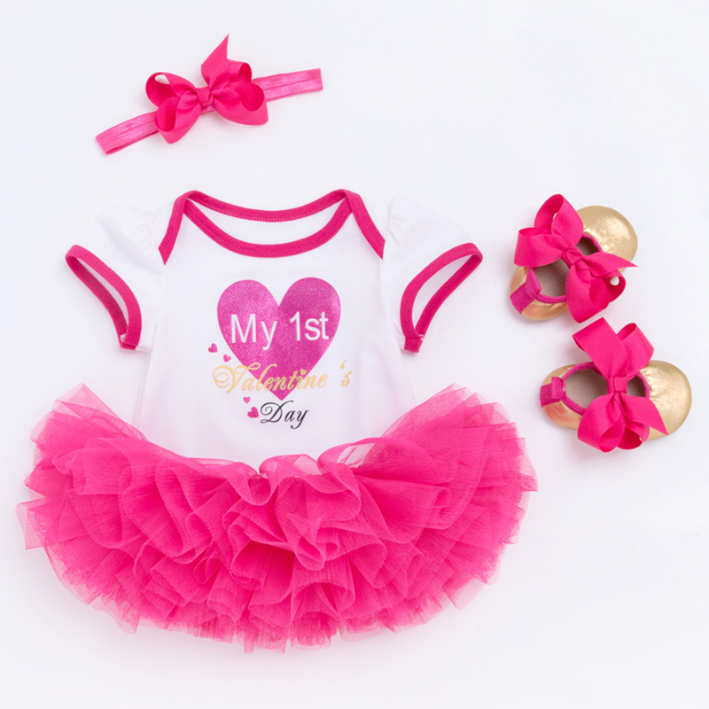 First Communion Baptism Birthday Baby Dresses for 1 2 years Infant Toddler Newborn Clothes Tutu Skirts Bodysuit Sets for Girls hot pink tutu first birthday party outfits baby born clothing sets baby girl baptism clothes glitter bebes infant sets suits