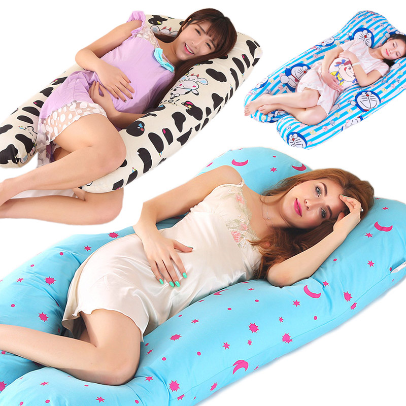 Pregnancy Pillow U-Shape Full Body Pillow Maternity Support Detachable Extension - Support Back Hips Legs Belly Pregnant Women