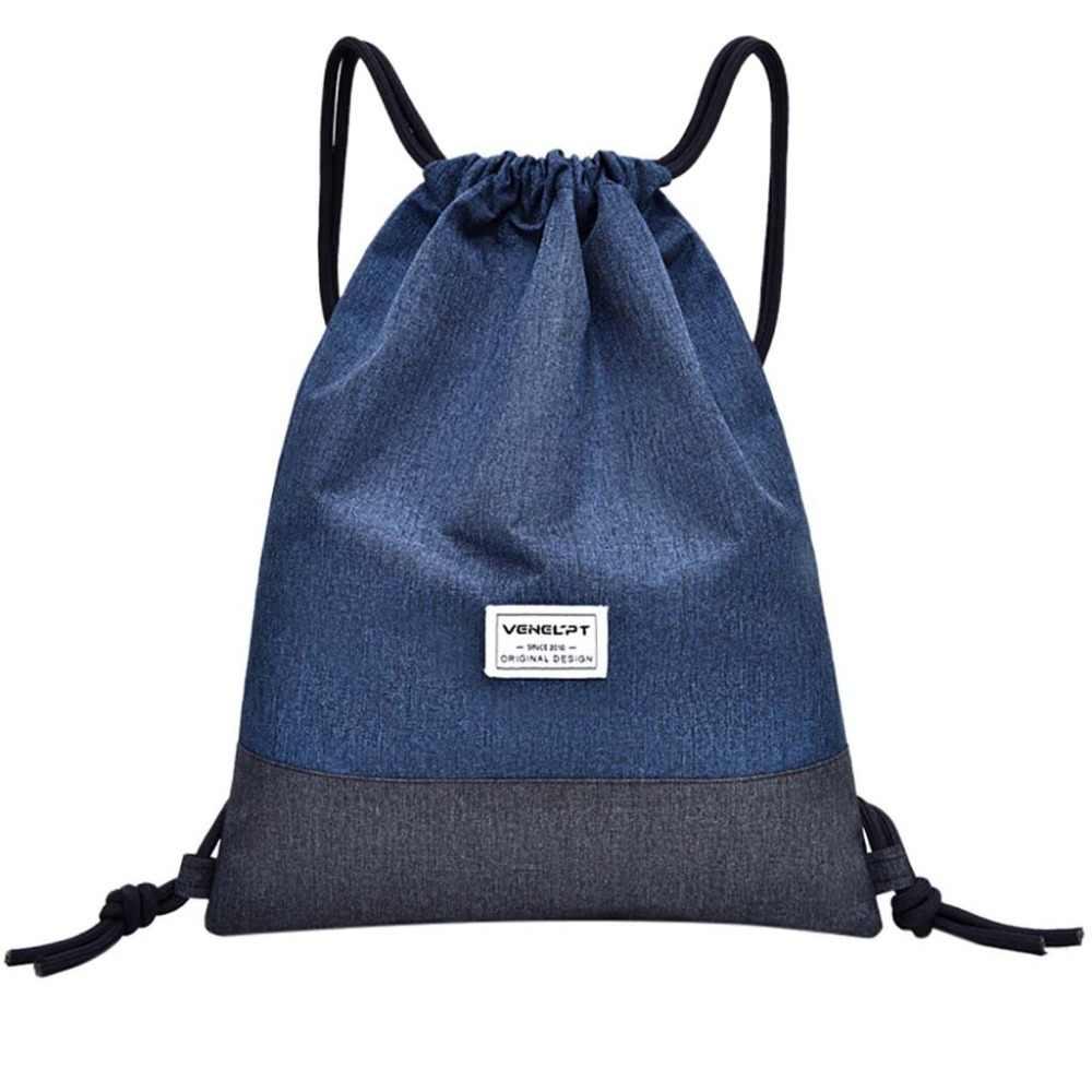 a8aff9132d5d 2019 new fashion Women Geometric patterns drawstring Backpack Patchwork  travel softback drawstring bag