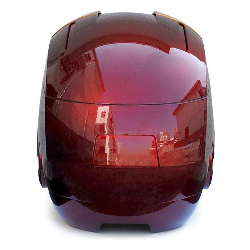 Железный Человек Взрослый мотоциклетный шлем Косплей Маска сенсорная маска с светодиодный подсветкой Коллекционная модель игрушки 1:1 высокого качества