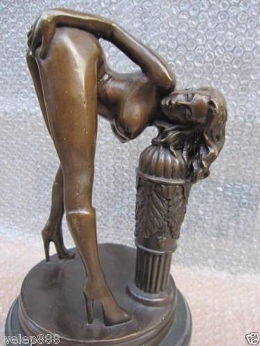 Old Erotic Sculpture NuWoman Jordan De Sexy Bronze Statue
