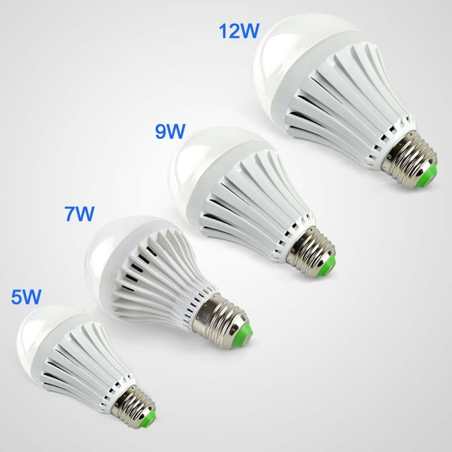 New 3w 5w 7w 9w 12w Led Emergency Light Rechargeable Bulb Lamp E27 For Home Flashlight 2835smd Illas Fcc Ce Rohs