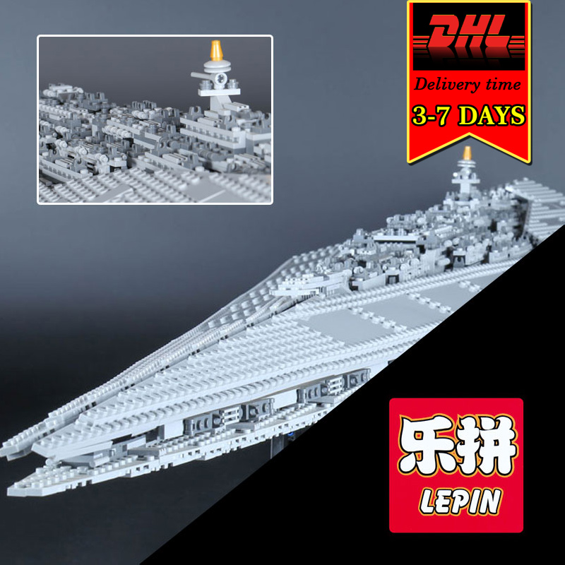 DHL LEPIN 05028 Star Execytor Destroyer Model Building Blocks Set Military War Brick Kit Compatible 10221 Toy For Boy Children 05028 star wars execytor super star destroyer model building kit mini block brick toy gift compatible 75055 tos lepin