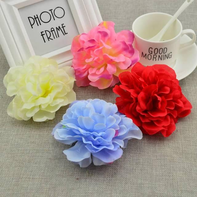 5pcs 10CM Silk roses Wedding car decoration bridesmaid wrist flower ...