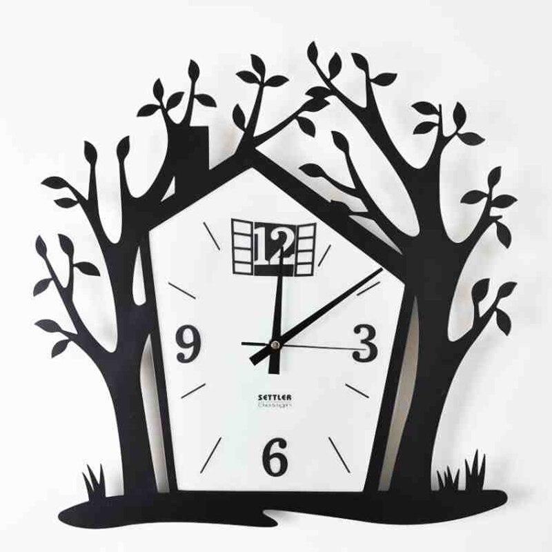 Большие декоративные настенные часы кварцевые часы Современная Дизайн Тихая черный модные офисные сравнению Grande Horloge Murale дома QQN431