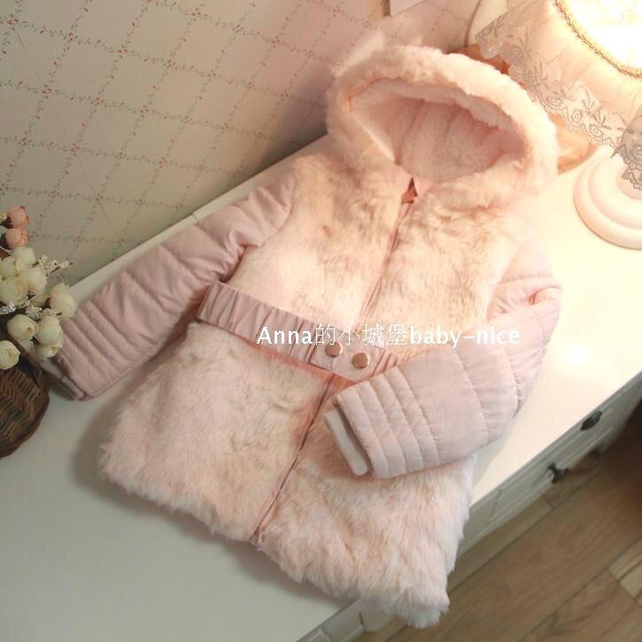 Çocuklar kızlar 2016 kış modelleri pamuk kemer ceket ince pamuk yastıklı ceket