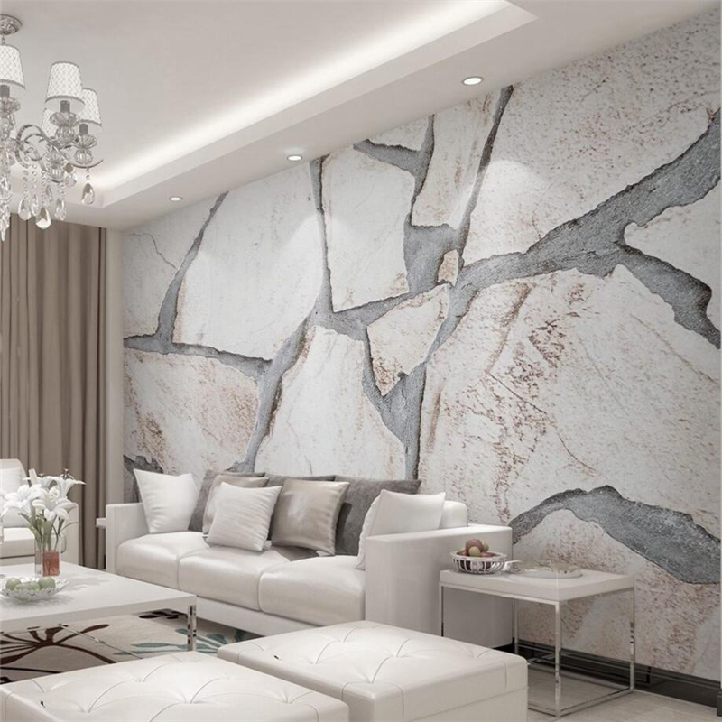 Us 885 41 Offbeibehang Custom 3d Wall Paper Modern Minimalistic 3d Solid Color Plain Marble Texture Wallpaper Wall Background In Wallpapers From