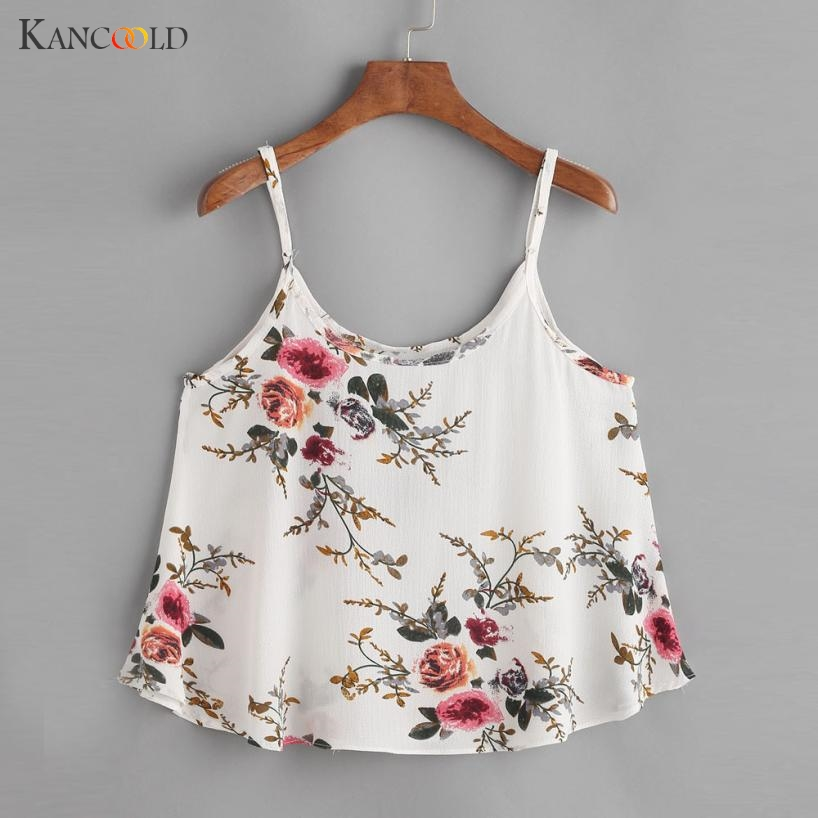 Floral Crop Top For Women Camisole Tank Tops Female Cropped Femininos tops 2018 Summer Women White Cami Short tops YH