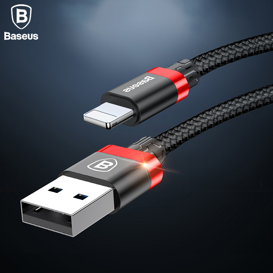 Baseus 2a Usb Charger Cable For Iphone X 8 7 6 5 Ipad Fast Kabel Lightning Travel Storage Grey Charging Mobile Phone Data Sync Metal In Cables From
