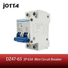 C45N 2 pole 63A C type mini circuit breaker mcb
