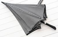 Big Classic houndstooth gift men umbrella to incease strong windproof full fiber bussiness straight rod automatic rain umbrellas