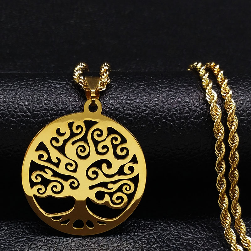 Gold Color Tree Of Life Pendant