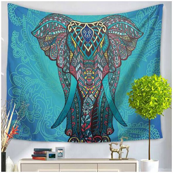 150 200cm Indian Mandala Tapestry Totem Compass Mandragora Elephant Printing  Beach Towels Yoga Mat