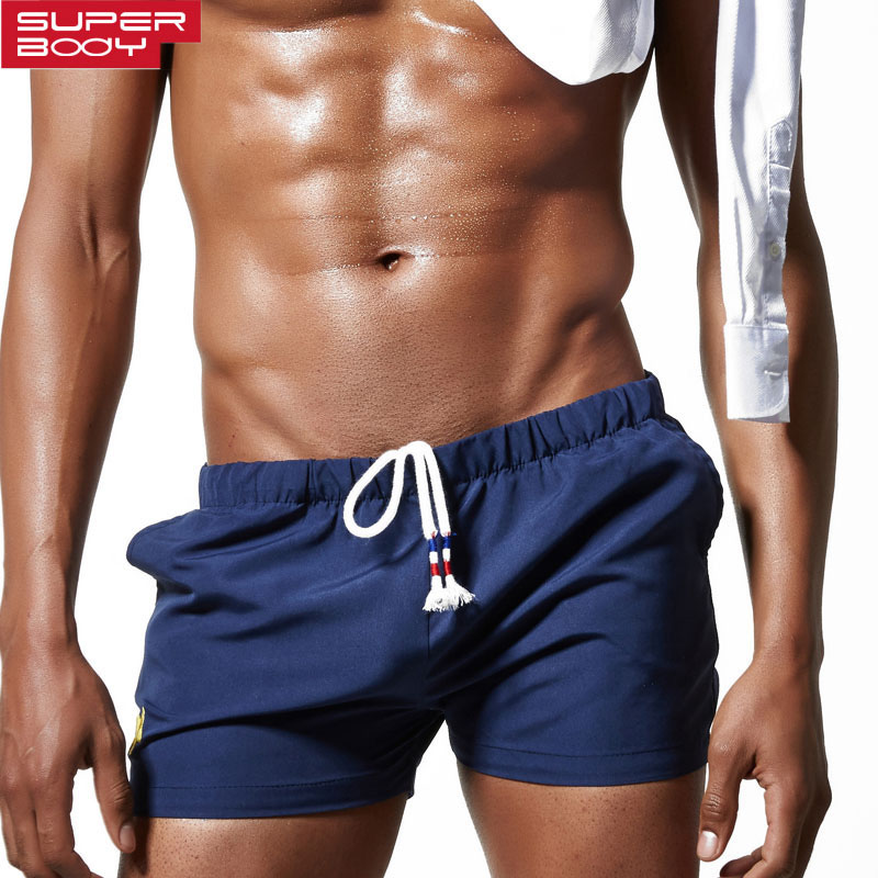 2018 Superbody Brand Mens Casual Shorts Male Sleepwear Boxers Home Bermuda Homme Workout Cargos Man Jogger Trunks Pajama Trouses