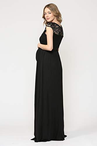 Robe de maternité pour femmes avec des robes de soirée en dentelle longue femme enceinte robes formelles pour femmes robes de fête et de mariage - 4
