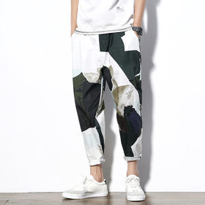 XMY3DWX 2018 Japanese Mens Youth Color Casual Pants Loose