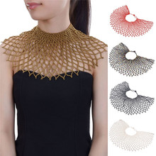 JEROLLIN 7 Color Big Chunky Statement Pendant Handmade Necklace Luxury Style Feather Collar Choker Jewelry For Women