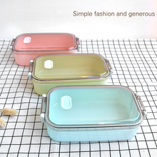 Simple Portable Fashion Creative Lunch Box Korean Plastic Food Containers Microwavable Kitchen Accessories