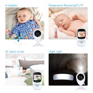 Image 5 - Cor de Vídeo sem fio Baby Monitor com 2.4 Polegadas LCD 2 Áudio Bidirecional Discussão Night Vision Segurança Vigilância Câmera Babá