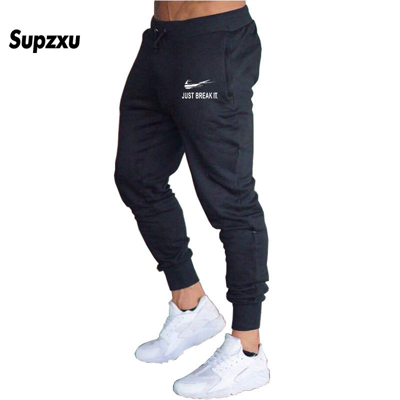 High Quality New JUST BREAK IT Jogger Pants Men Fitness Bodybuilding Men Fitness Bodybuilding Gyms Pants Runners Casual Pants