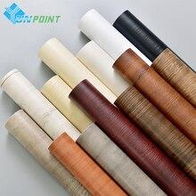 PVC Waterproof Self Adhesive Wallpaper Roll Furniture Cabinets Vinyl Decorative Film Wood Grain Stickers For Diy Home Decor