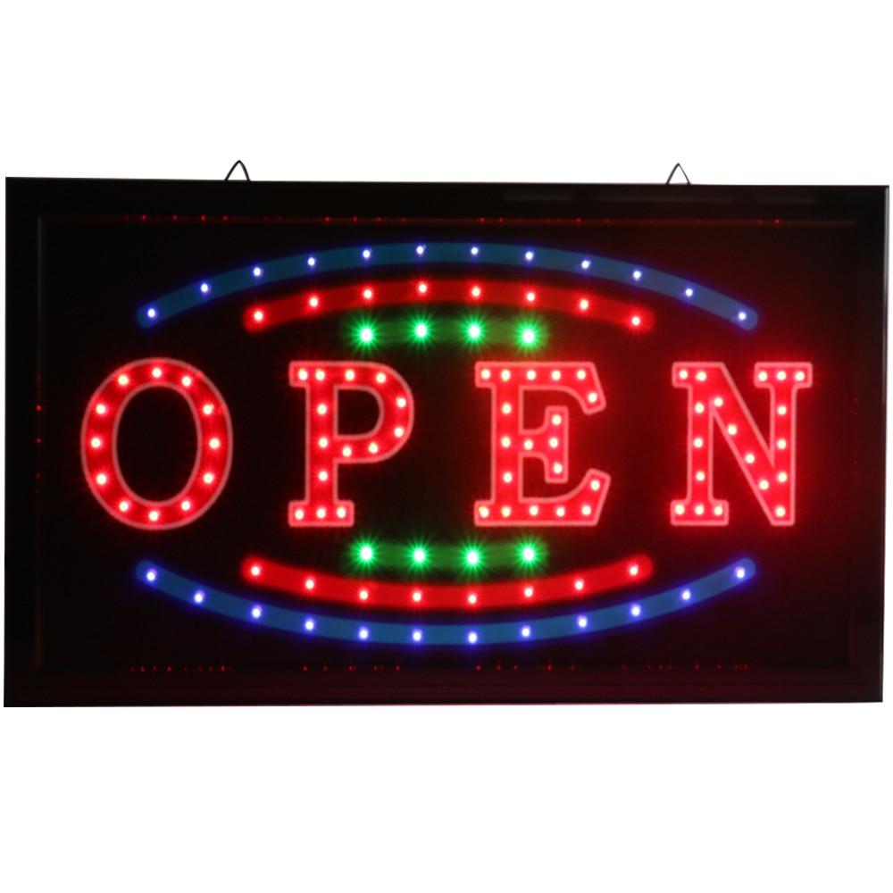 CHENXI Новый светодио дный яркий светодиодный свет открытые неоновые вывески мигающие с рекламной бумагой ремесло для магазина Busines светодио ...