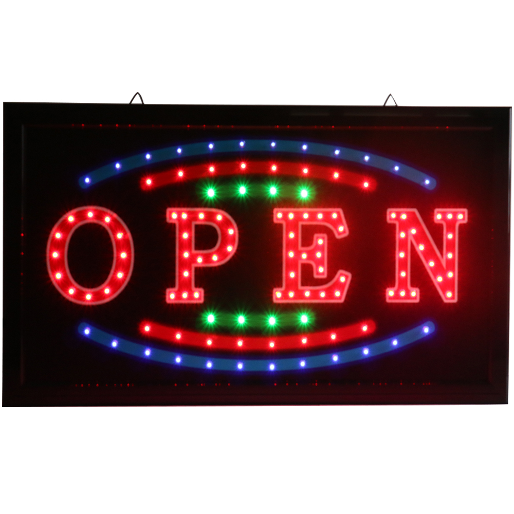 CHENXI New Bright LED Light Open Neon Signs Flashing With Advertising Paper Craft For Busines Store Shop Open Led Sign.
