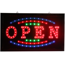 CHENXI New Bright LED Light Open Neon Signs Flashing with Advertising Paper Craft for Busines Store Shop Led Sign.