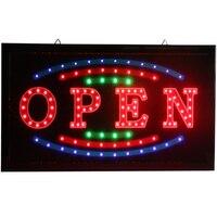 Os sinais de néon abertos brilhantes novos do diodo emissor de luz de chenxi piscam com ofício de papel da propaganda para o sinal aberto do diodo emissor de luz da loja dos negócios.|Luzes de publicidade| |  -