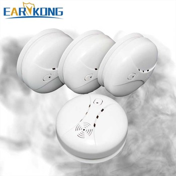 Free Shipping Hot Selling New 433 Wireless Smoke Detector Fire Alarm Sensor for Indoor Home Safety Garden Security SM-03