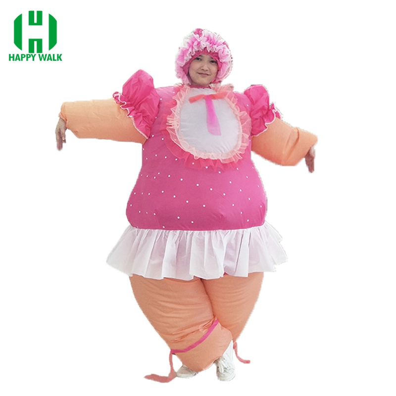 Hot Sale Baby Doll Inflatable Costumes Baby Girl Inflatable Costume