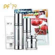 цена на PF79 Skin Care Set Refresh Water Barrier Cream Toner Cleansing Foam Recovery Essence Moisturizing Nourishing Repair Skin