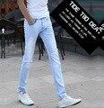 Aliexpress 2016 afluencia de verano de nueva Inglaterra los hombres venta caliente de la Juventud popular Delgado blanqueador de Negocios de Ocio de los pantalones vaqueros Baratos al por mayor