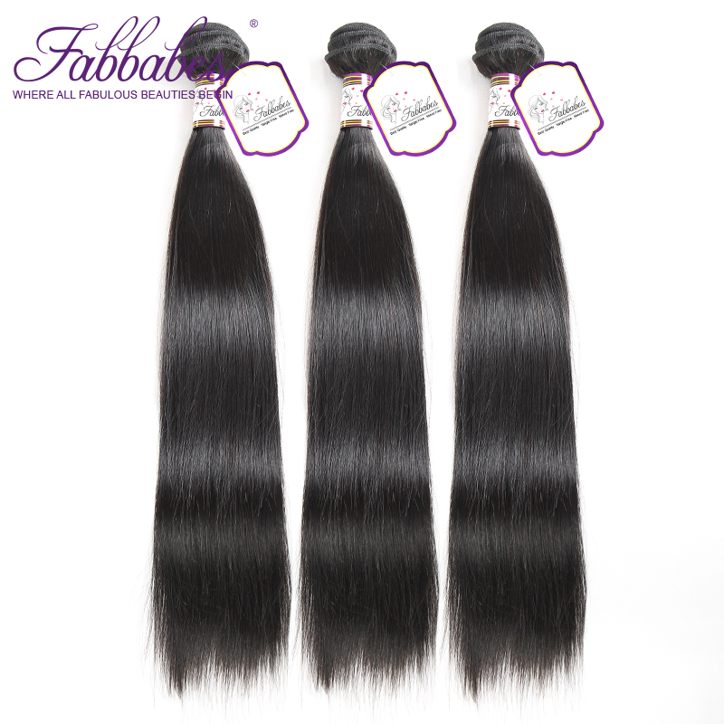 Fabbabes Brazilian Remy Hair Straight 3 Bundles/Lots 100% Human Hair Weaving Bundles Hair Products Free Shipping