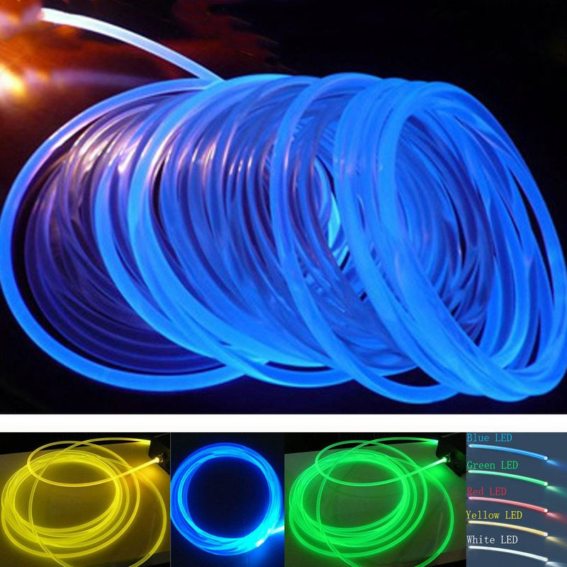outer Dia. 17.3mm inner Dia. 50m Side Glow Pmma Fiber Optic Cable 14.0mm F/led Light Engine Pool Hanging Curtain Car Home Decor