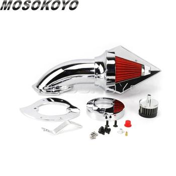 360 Degree Slotted Spike Billet Aluminum Air Filter Intake Kit for Honda VTX 1300 All Year Washable Air Cleaner Cover image
