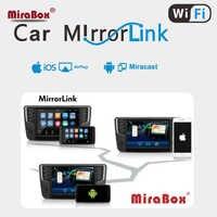 La buena caja de pantalla de espejo de coche compatible con IOS y Android miracast Pantalla de coche WIFi espejo de enlace para coche wi-fi mirabox