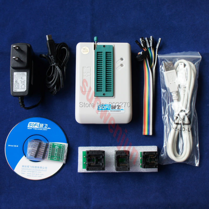 цены USB BIOS Universal SP8-F Programmer offline function Full Pack FLASH/EEPROM/SPI include 3 pcs adapters