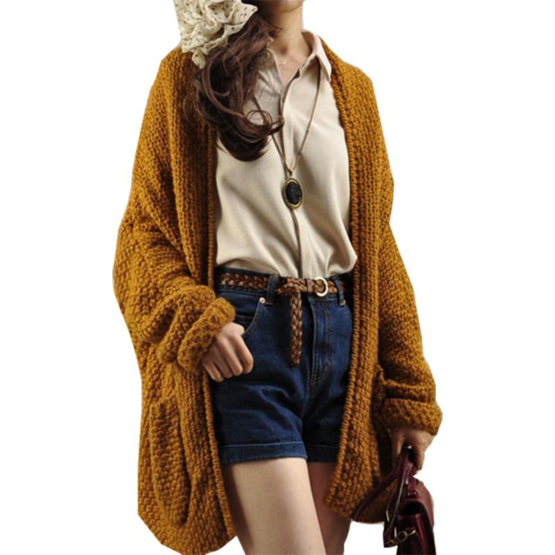 Sweater Women 2019 Literary Retro Long Cardigan Shirt Thick Autumn Winter Loose Shawl Sweaters Jacket Clothing Vestidos Mmy067 Cardigans
