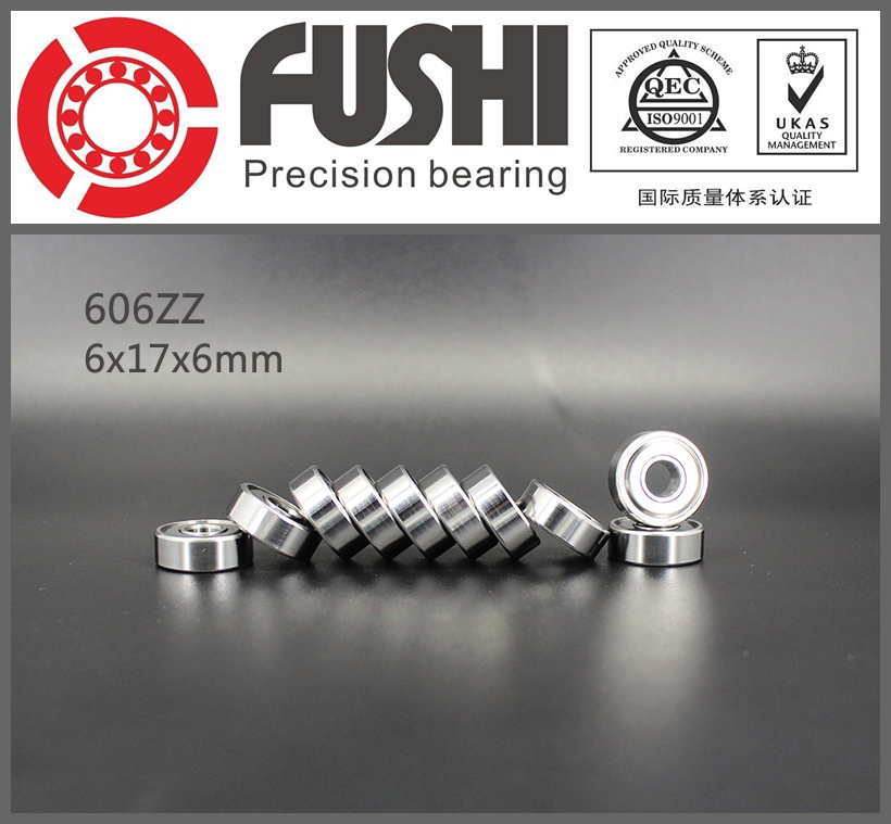 606ZZ Bearing ABEC-5 10PCS 6x17x6 mm Miniature 606Z Ball Bearings 606 ZZ EMQ Grade Z3 V3 683zz bearing abec 7 10pcs 3x7x3 mm miniature 683 zz ball bearings 618 3zz emq z3v3 high quality