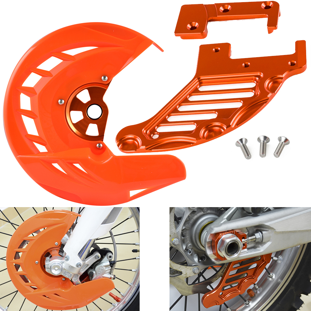 Front Rear Brake Disc Guard Protector Cover For KTM 125 150 200 250 300 350 400