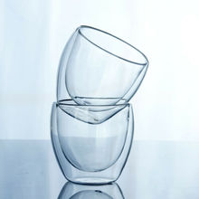 150-450ML Glass Coffee Mug Clear Double Wall Insulated Thermal Tea Cup Drinking Layer