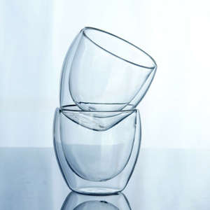 Coffee-Mug Glass Thermal-Tea-Cup Clear Drinking Wall-Insulated Double-Layer 1 150-450ML