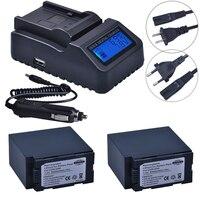 2 st 5400 mah CGA D54 CGA D54 D54S Bateria + Ultra Snelle LCD Snellader voor Panasonic CGA D54S CGA D220 CGA D320 CGA D54 Batterij Digitale accu's Consumentenelektronica -
