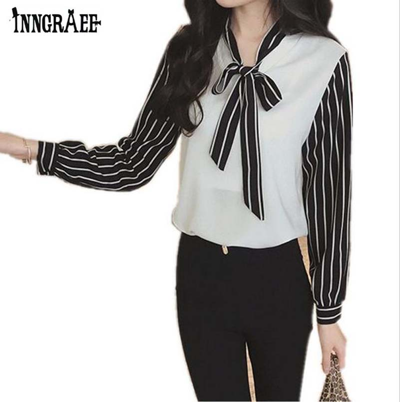 On Trend And Elegant Looks For: 2016 Summer Women Shirt New Fashion Style Bow Tie Elegant