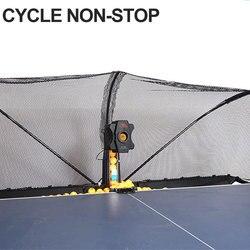 HUIPANG S6 PRO Tafeltennis Robot Machine met NETTO BALLEN Gemakkelijk Monteren Automatische Recycle Ballen