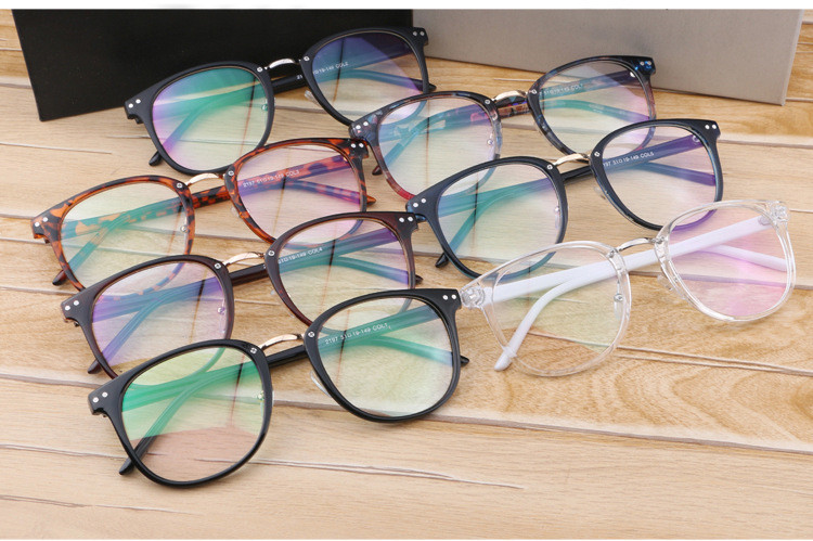 18eb4c2fa72 Newest Oversize Glasses Frames Metal Leg Vintage Eyeglasses Frame Women Men  Fake Plain Glasses Fashion Eyewear For Woman man