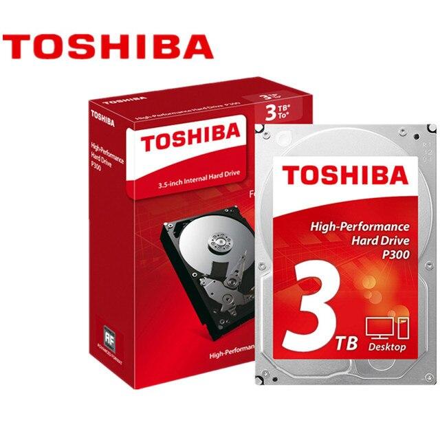 "Toshiba 3TB HDD Desktop Computer Internal Hard Disk Drive P300 3.5"" 7200RPM 64M HDWD130AZSTA SATA3"