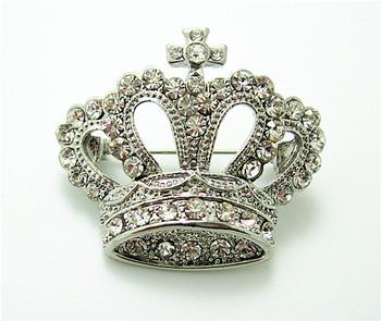 OneckOha wyczyść Rhinestone korona broszka Pin dekoracyjne dodatki do odzieży tanie i dobre opinie Ze stopu cynku Broszki Zwierząt BR0390 Moda Kobiety TRENDY Zhejiang China (Mainland) Crown