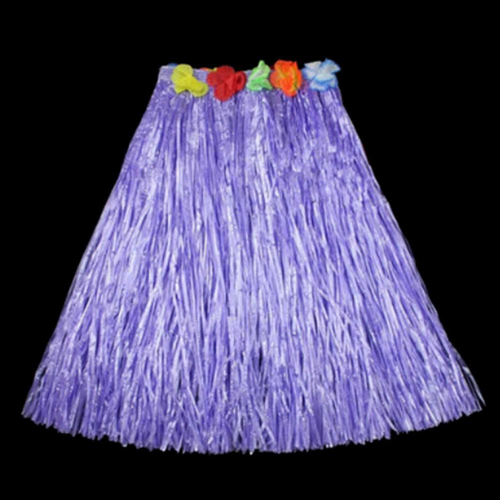60 CM Vui Vẻ Hawaii Bên Trang Trí Cung Cấp Ăn Mặc Trẻ Em Dành Cho Người Lớn Hula Hiển Thị Cỏ Bãi Biển Hoạt Động Khiêu Vũ Váy Vòng Hoa Áo Ngực Vòng Hoa